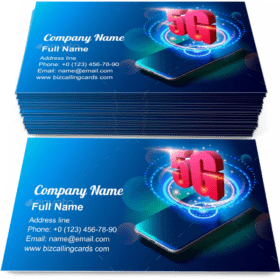 5G Technology and Mobile Networks Business Card Template