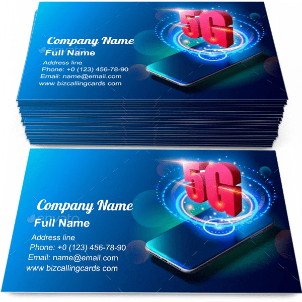 Sample of 5G Technology and Mobile Networks calling card design for advertisements marketing ideas and promote Mobile Networks branding identity