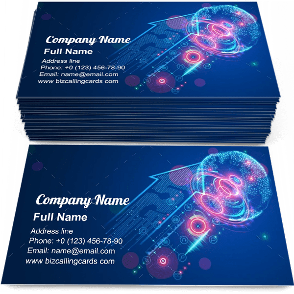 Sample of 5g Global internet calling card design for advertisements marketing ideas and promote LTE Technology branding identity