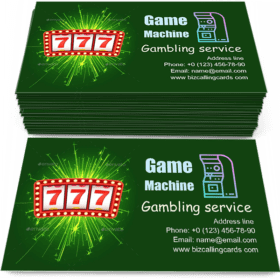 777 Game Machine Business Card Template