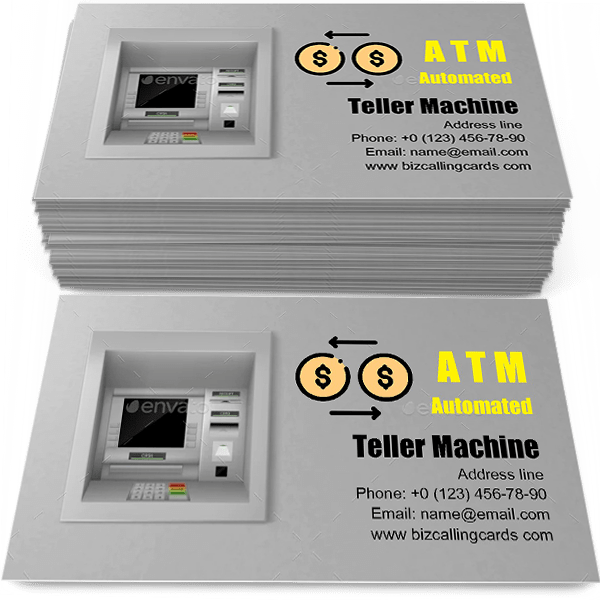 ATM Automated Teller Machine Business Card Template