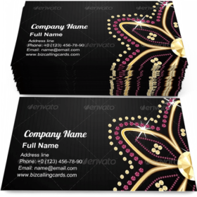 Abstract Black Diamond Business Card Template