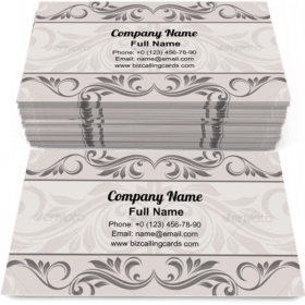 Abstract Floral border Business Card Template