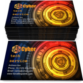 Abstract Technology and Cyber Business Card Template