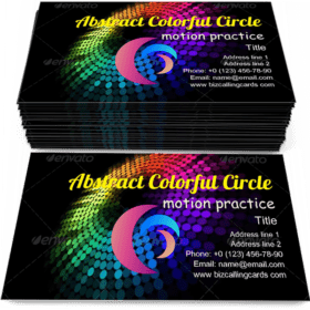 Abstract colorful circle Business Card Template