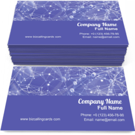 Abstract molecular structure Business Card Template