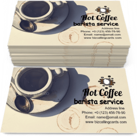 Aerial view of hot coffee Business Card Template