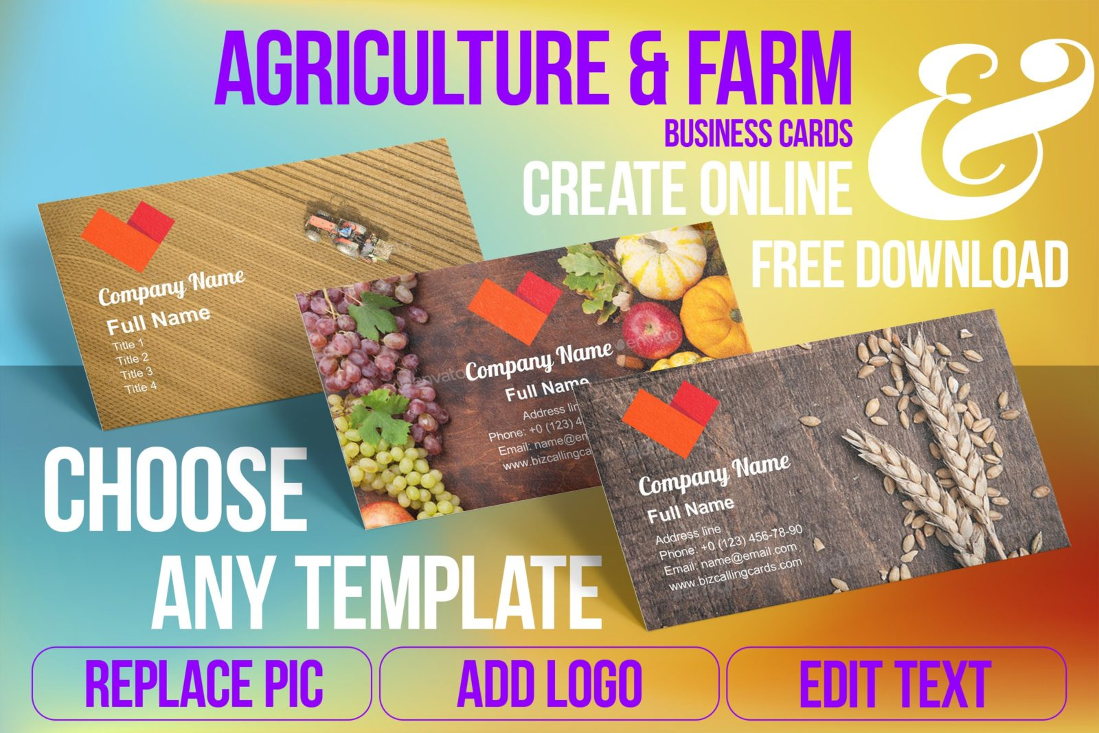 Business Card Templates For Agriculture & Farm Free Download
