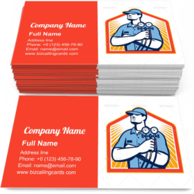 Air Conditioning Mechanic Business Card Template