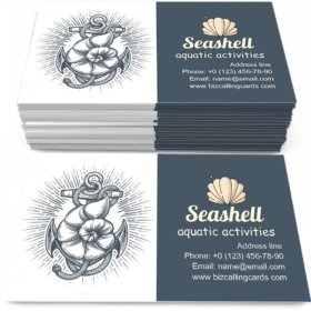 Anchor with Seashell Business Card Template