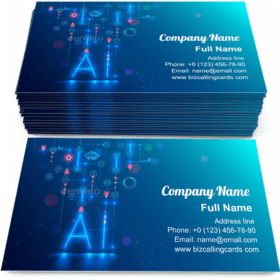 Artificial Intelligence Technology Business Card Template