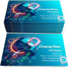 Artificial intelligence analyzes information Business Card Template