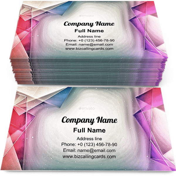 Sample of Artistic Polygon paint calling card design for advertisements marketing ideas and promote artist branding identity