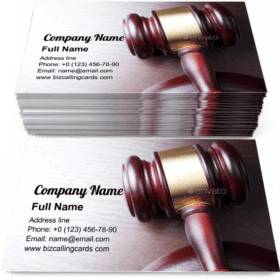 Attorney brown gavel Business Card Template