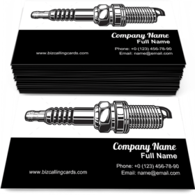 Automobile Spark Plug Business Card Template
