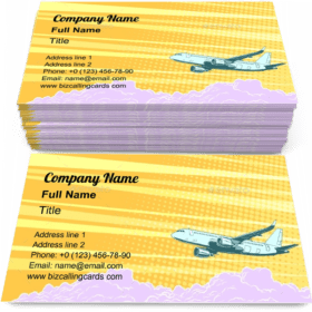Aviation Aircraft Flying Above the Clouds Business Card Template