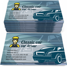 Back of Automobile Business Card Template