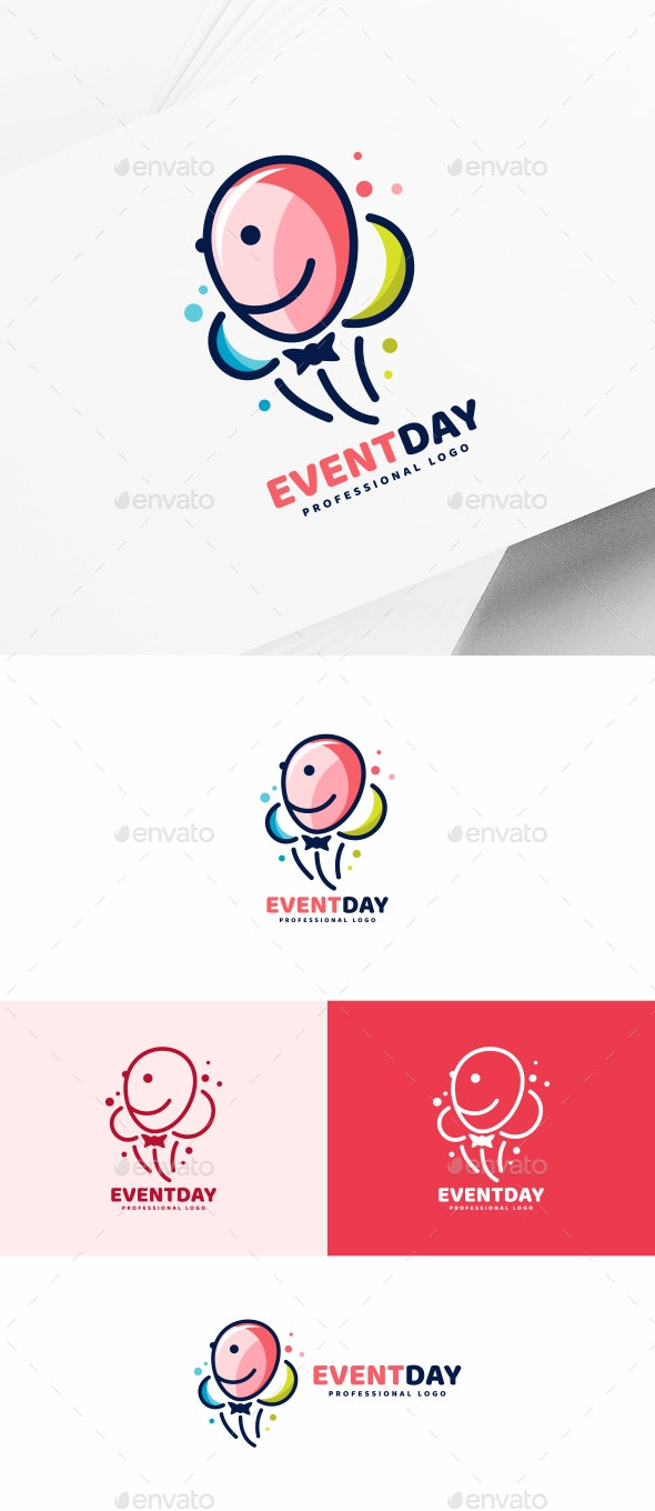 Balloons Logo Template for Your Celebration Business Card