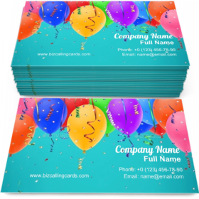 Balloons and Ribbons Business Card Template