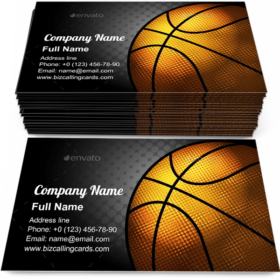 Basketball Theme Business Card Template
