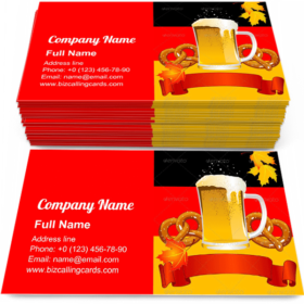 Bavarian Culture Business Card Template