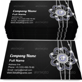 Beautiful Black Diamond Business Card Template