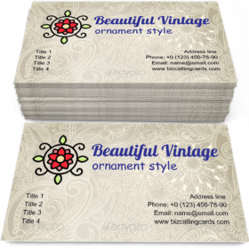 Beautiful Vintage Pattern Business Card Template