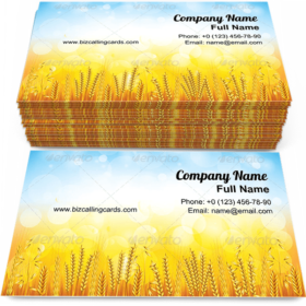 Beautiful Wheat Field Business Card Template