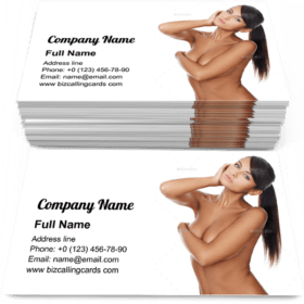 Beautiful and sexy woman Business Card Template