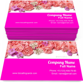 Beautiful floral border Business Card Template