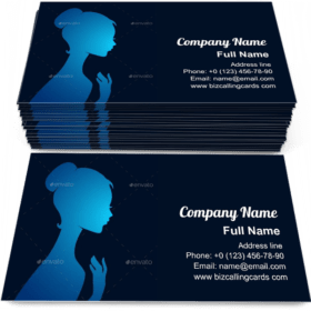 Beautiful woman's silhouette Business Card Template
