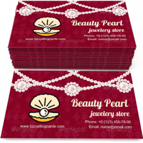 Beauty Pearl Business Card Template