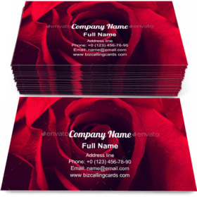 Beauty Red rose Business Card Template