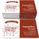 Beef cuts with parts scheme Business Card Template