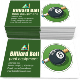 Billiard Ball Business Card Template