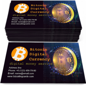 Bitcoin Digital Currency Business Card Template
