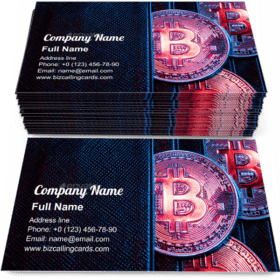 Bitcoin sticking out of a wallet Business Card Template