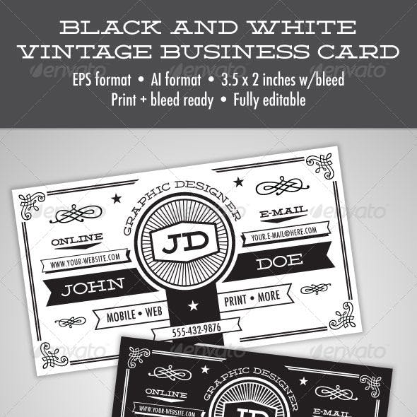 Black Color of Business Cards