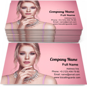 Blonde with Jewelry Business Card Template