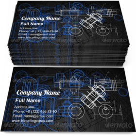 Blueprint Construction Business Card Template