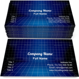 Blueprint Stage Business Card Template