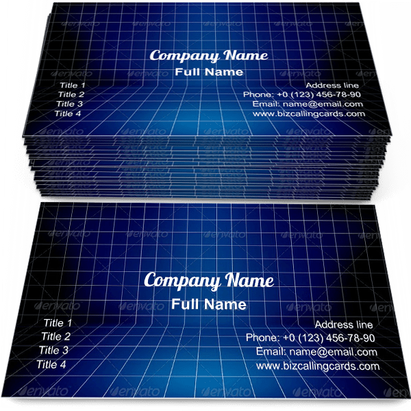 Sample of Blueprint Stage calling card design for advertisements marketing ideas and promote construction branding identity