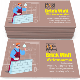 Brick Wall Hold Spatula Business Card Template