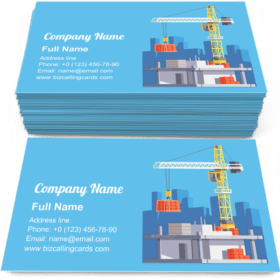 Building House or a Skyscraper Business Card Template
