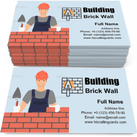 Building a Brick Wall Business Card Template