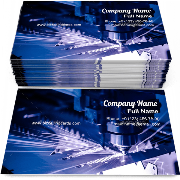 Sample of CNC Laser cutting of metal business card design for advertisements marketing ideas and promote CNC Technology branding identity