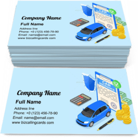 Car Insurance protection Business Card Template