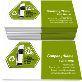 Car Recycling Sign Business Card Template