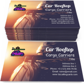 Car Rooftop Cargo Carriers Business Card Template
