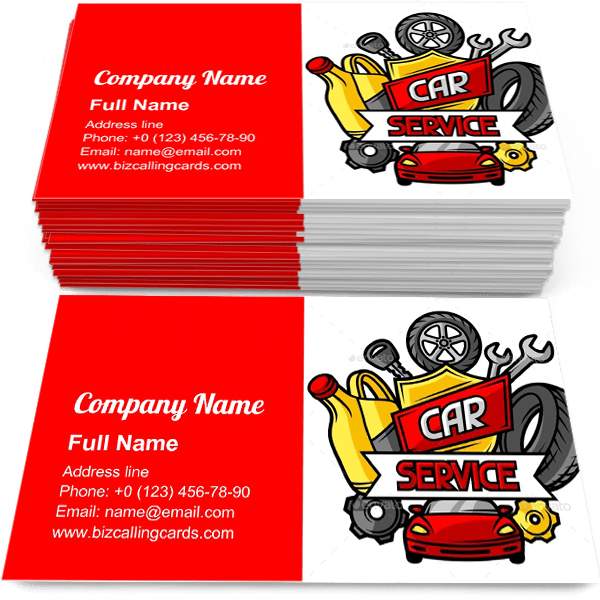 Sample of Car Service Objectscalling card design for advertisements marketing ideas and promote automotive maintenance branding identity
